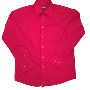 Newberry Boys Red Button Up Poly Cotton Shirt